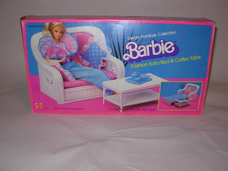 Barbie Fashion Sofa Bed And Coffee Table The 80s Pinterest